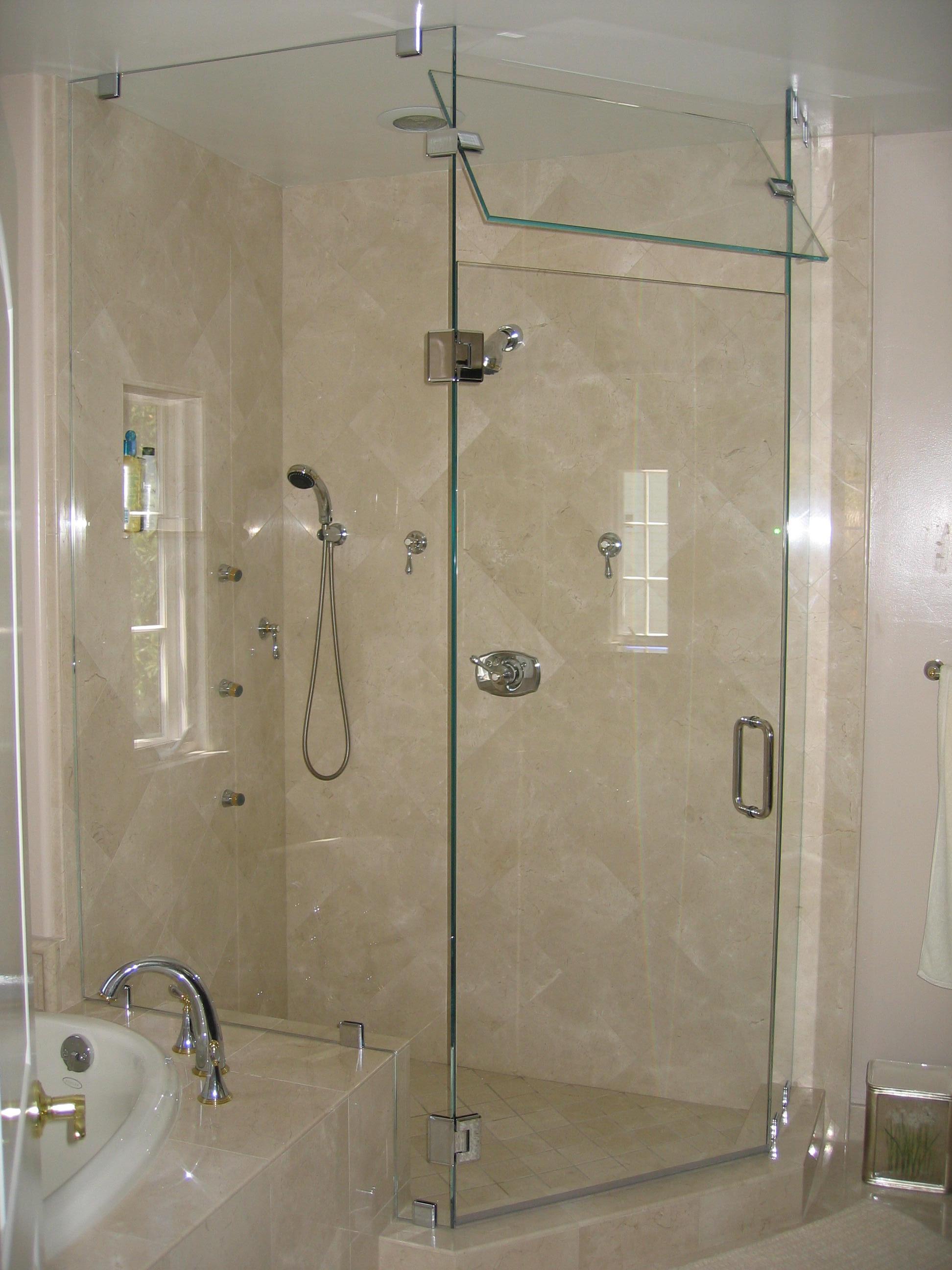 מפואר דלתות זכוכית למקלחת | מרכז אלמג'ד לזכוכית בצפון - מעל 30 שנה XX-83